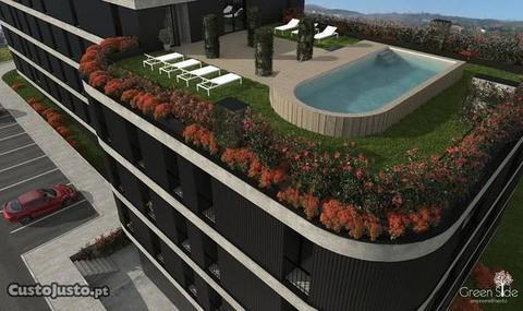 Apartamentos novos em Gualtar com piscina e jardim