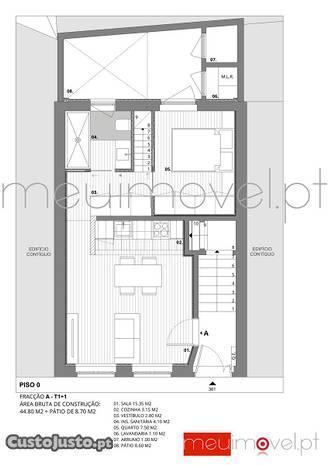 Apartamento T1+1, Porto, Porto, Campanhã