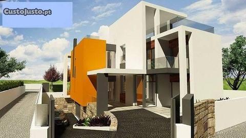 Casa Moderna em construção V4 Santa Maria Lagos